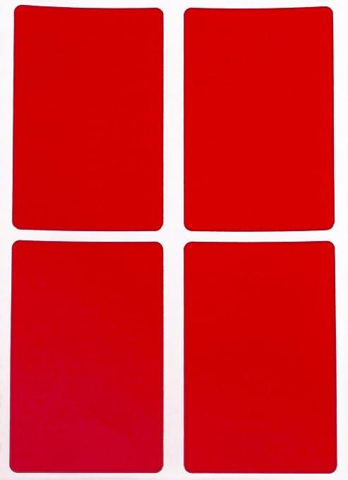 Aufkleber Neon Orange 40 mm x 19 mm rechteckige Sticker in verschiedenen Farben Gr/ö/ße 4 cm x 1,9 cm viereckige Etiketten 300 Vorteilspack von Royal Green