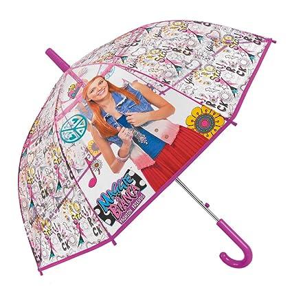 Paraguas Maggie & Bianca Fashion Friends Niña - con Estampado Maggie - Paraguas Transparente de Burbuja