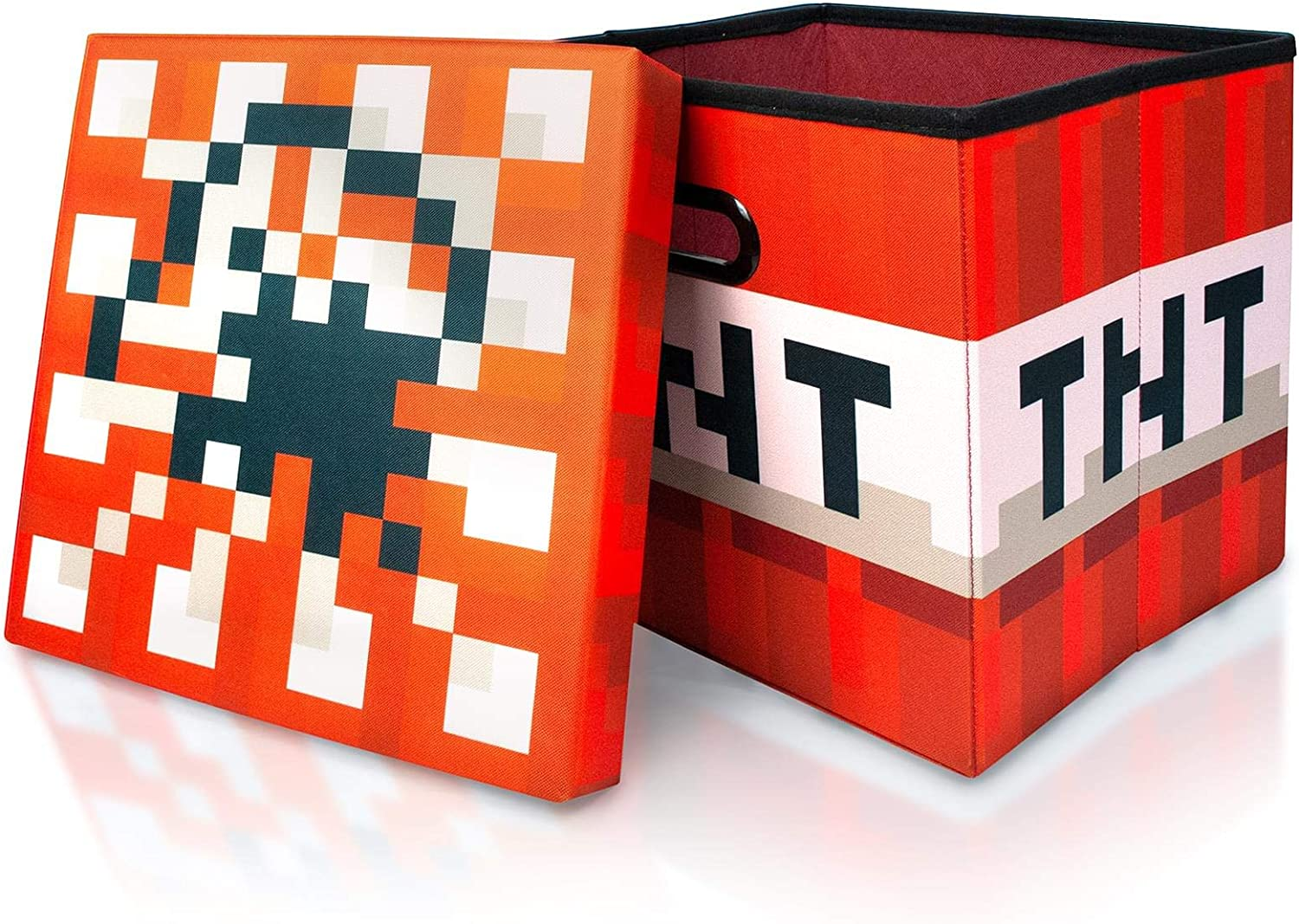 TNT Block from Cubbies Storage Cubes Organization Cubes 15-Inch Square Bin with Lid Minecraft TNT Block Storage Cube Organizer Storage Cube