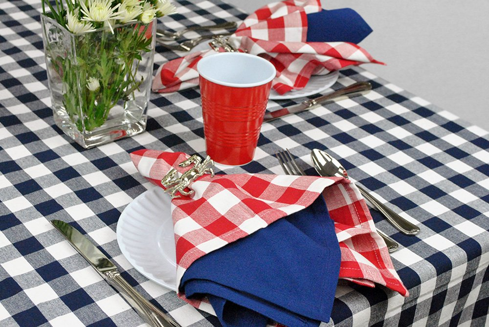 DII Oversized 20x20 Cotton Napkin, Pack of 6, Red & White Check - Perfect for Fall, Thanksgiving, Farmhouse DÃcor, Christmas, Picnics & Potlucks or Everyday Use by DII (Image #8)