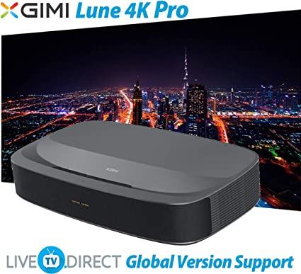4K Projector, LiveTV.Direct Enhanced for XGIMI Lune4K Super Short Focus Android 3D Smart Laser TV Native 4K UHD Home Theater Projector Built-in 60W ...