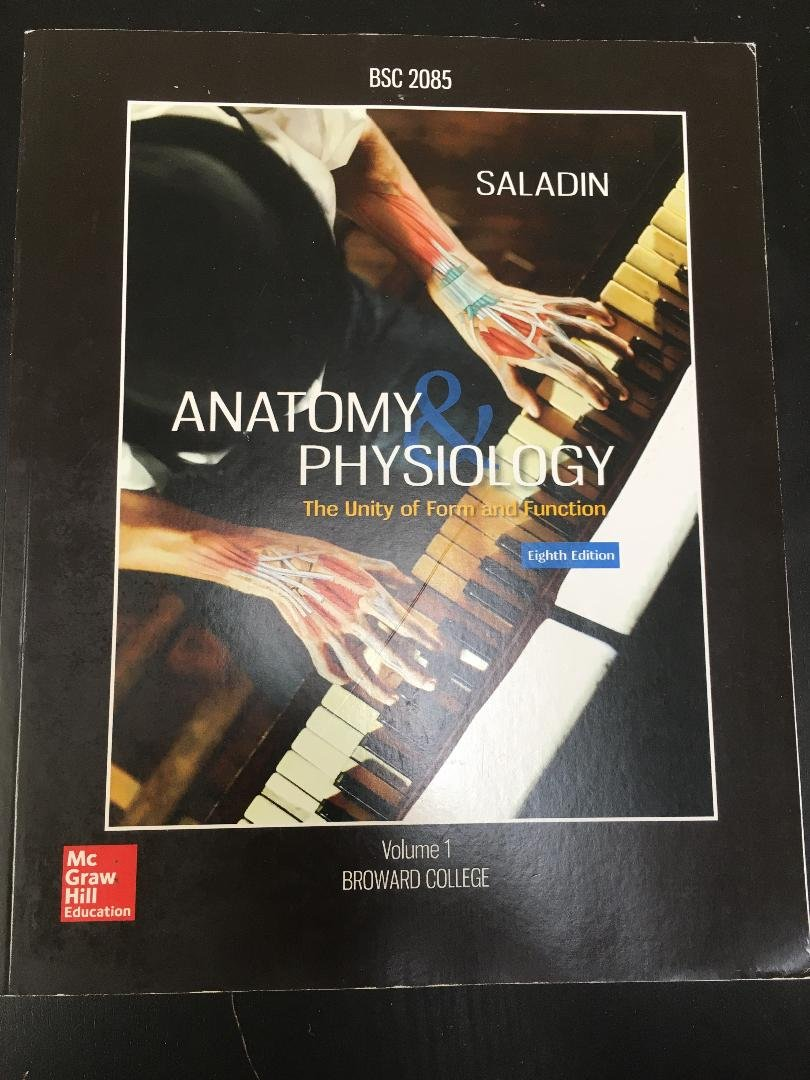 Anatomy Physiology Volume 1 Broward College BSC 2085 seventh edition ...