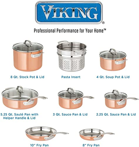 Viking 13-Piece Tri-Ply Copper Cookware Set Review