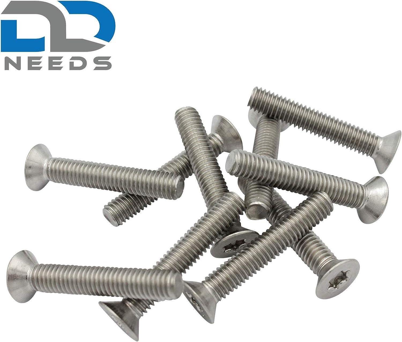 ISO 14581 // DIN 965 en acier inoxydable A2 V2A /à t/ête frais/ée Taille de vis /à t/ête frais/ée M5 x 35 mm avec filetage complet et TX PU: 20 pi/èces D2D