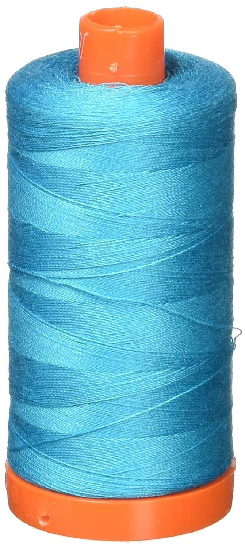 Aurifil A1050-2810 Solid 50wt 1422yds Turquoise Mako Cotton Thread Aurifil USA
