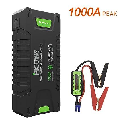 Picowe Arrancador de Vehículos Baterías, 20000mAh 12V 1000A en el ...