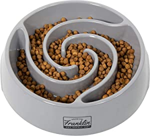 Franklin Pet Supply Slow Feed Tornado Bowl - Pet Bowl - Dog Bowl- Food - Water Bowl - Small - Medium - Large Dog Food Bowl - Puppy - Slow Feed Dog Bowl