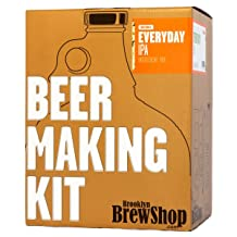 Brooklyn Brew Shop Everyday IPA Beer Making Kit: All-Grain Starter Set With Reusable Glass Fermenter