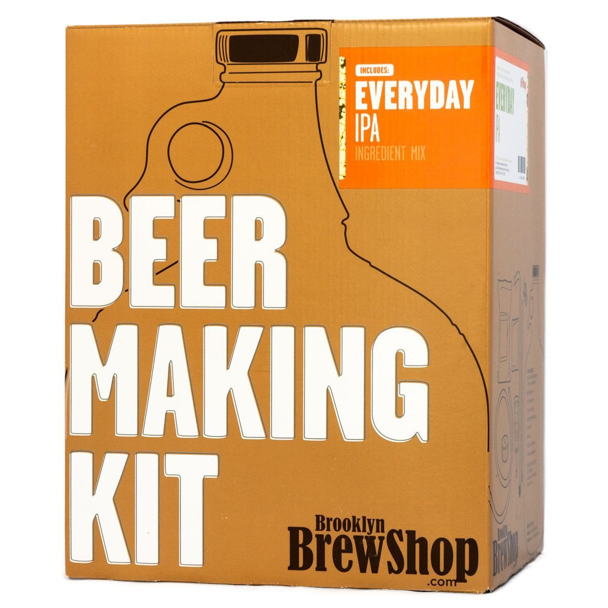 Brooklyn Brew Shop Everyday IPA Beer Making Kit: All-Grain Starter Set With Reusable Glass Fermenter, Brew Equipment, Ingredients (Malted Barley, Hops, Yeast) Perfect For Brewing Craft Beer At Home by Brooklyn Brew Shop