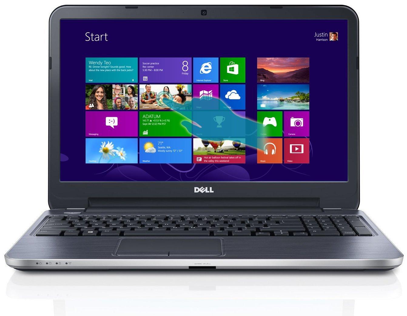 Dell Inspiron 15R i15RMT-5099SLV 15.6-Inch Touchscreen Laptop (Moon Silver)(US Version, Imported)   B00CRGJJHU