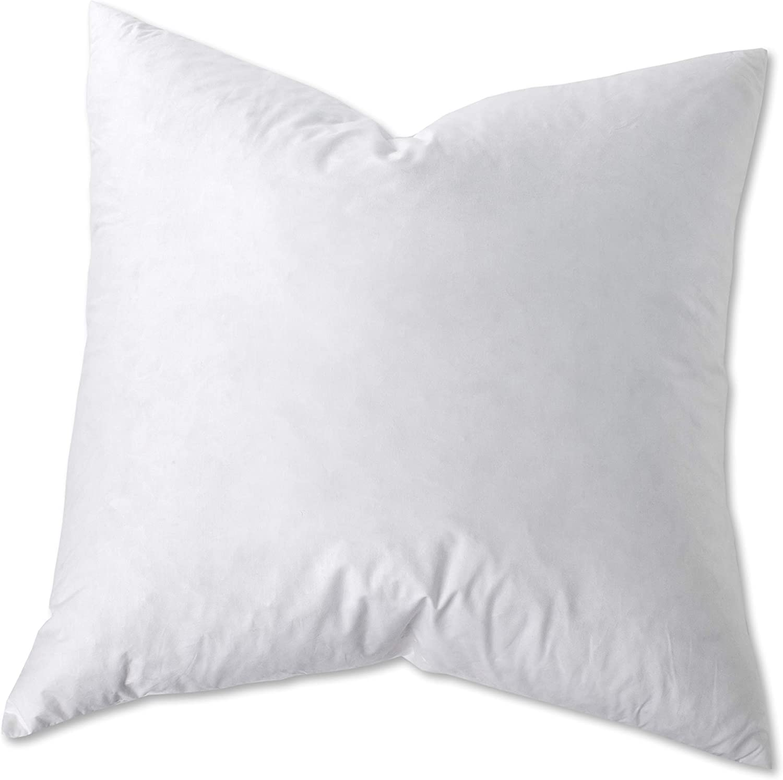 Sunflower Hometex USA Sunflower EDB-30 Hybrid Euro Square Cotton Pillow, Set of 2, 30