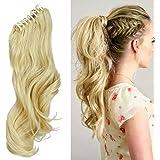 """24"""" Queue de Cheval Postiche Extension de Cheveux (Attachée par Pince/Griffe) Ondulé - Claw on Ponytail Clip in Hair Extensions (60cm-155g)"""