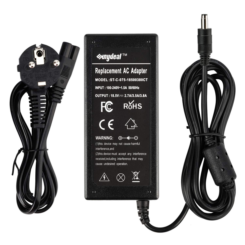 Sunydeal-Cargador Adaptador Reemplazo para Ordenador portátil HP, Compatible con 110 / 110s / E300 / E500 / E500s / E700 / M300 / M500 / M700 / V300, ...