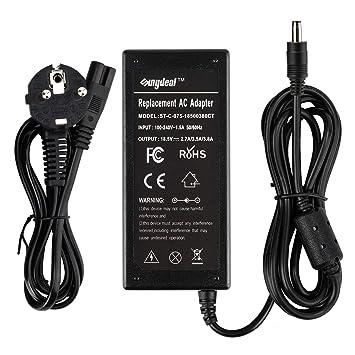 Sunydeal Cargador Adaptador Reemplazo para Ordenador Portátil HP, Compatible con 110/110s/E300/E500/E500s/E700/M300/M500/M700/V300, Cable de ...