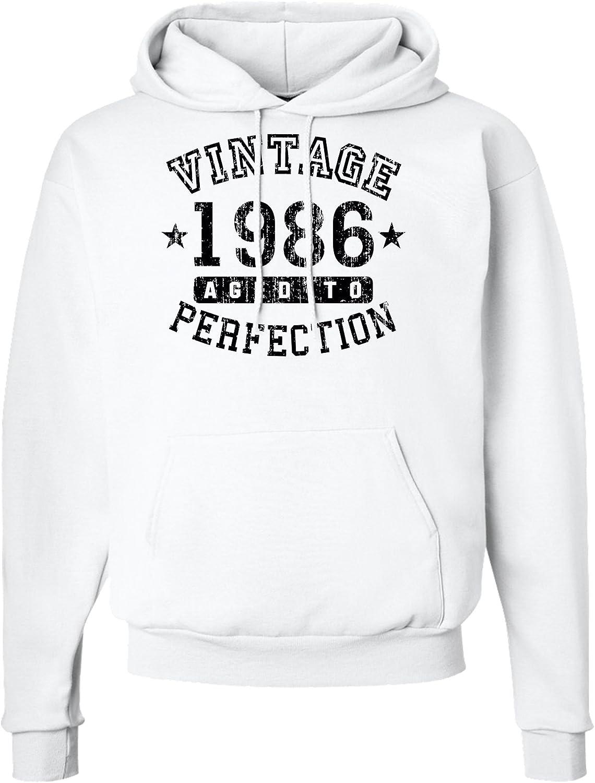 TOOLOUD 1986 Vintage Birth Year Hoodie Sweatshirt Brand