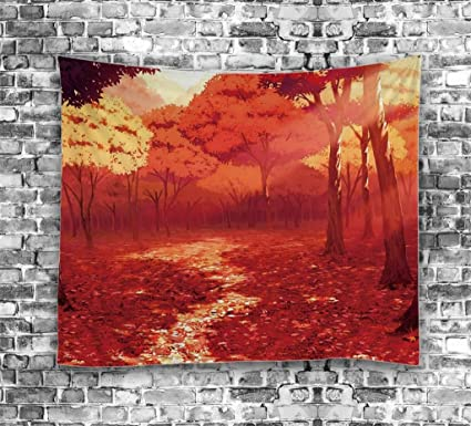 ouliu arte pintura al óleo impresa decoración del hogar pared arte tapiz tela de poliéster toalla