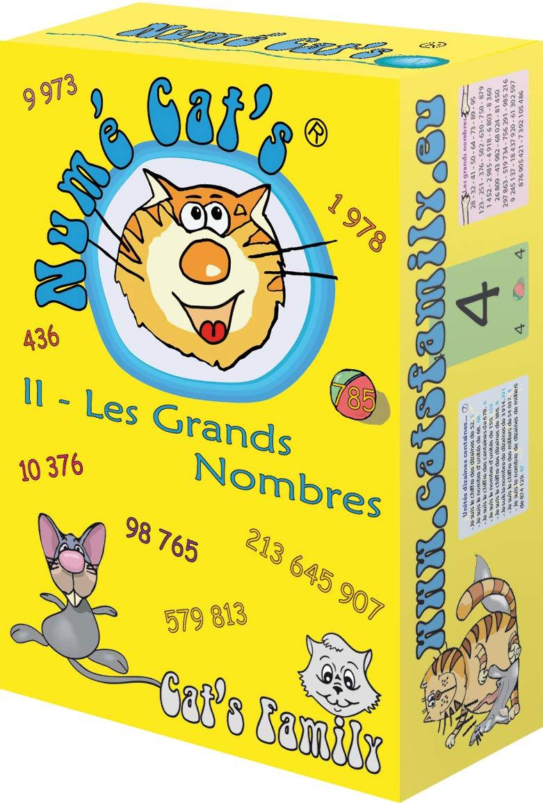 Num/é Cats 2 Cats Family du CE1 au Coll/ège Les Grands Nombres Jeu de Cartes Math/ématique sur la Num/ération et le Calcul