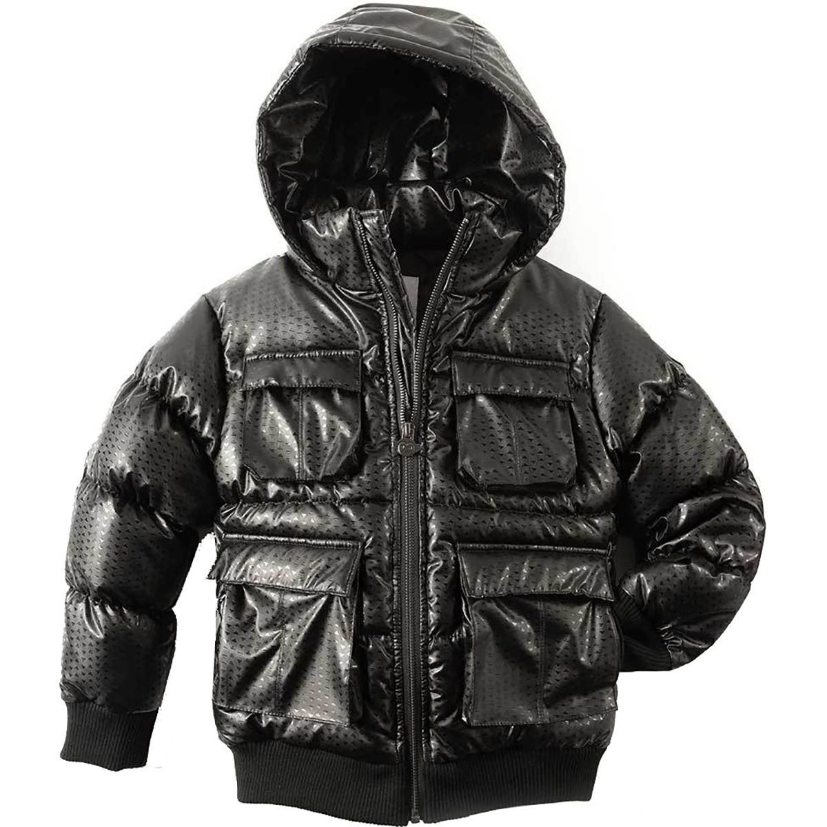 Appaman Little Boys' Gambit Puffer Coat, Black Diamond, 6