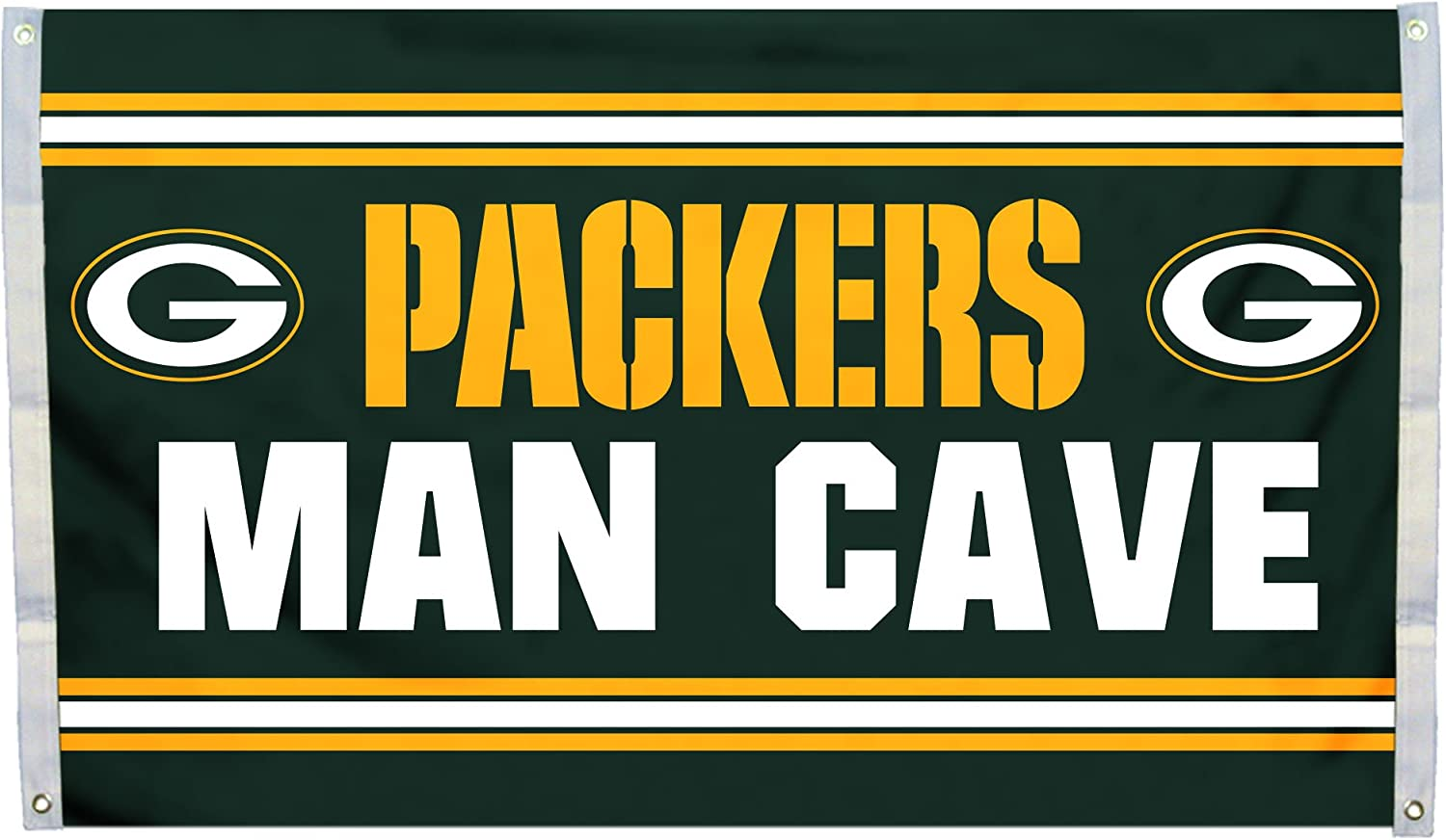 Fremont Die NFL Green Bay Packers 3' x 5' Flag with Grommets, 3 x 5-Foot, Man Cave