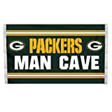 NFL Green Bay Packers Man Cave Flag with 4