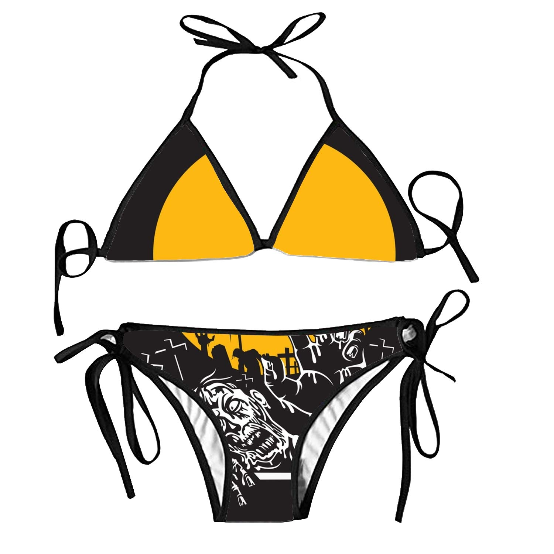 6c901ce9f13 Amazon.com: Women Sexy Flat Halloween Holiday Halter Triangle Bikini ...