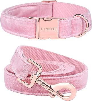 ARING PET Velvet Dog Collar and Leash