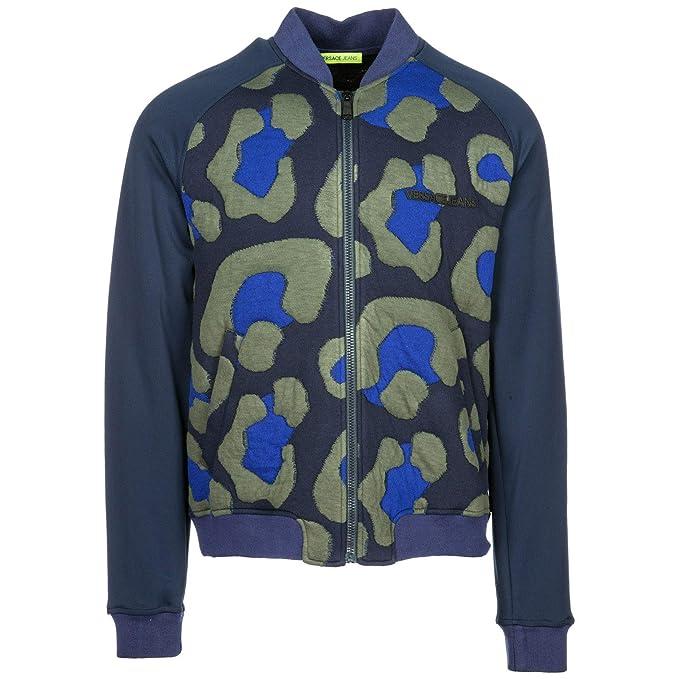 Versace Jeans Sudadera con Cremallera Hombre BLU M: Amazon.es: Ropa y accesorios
