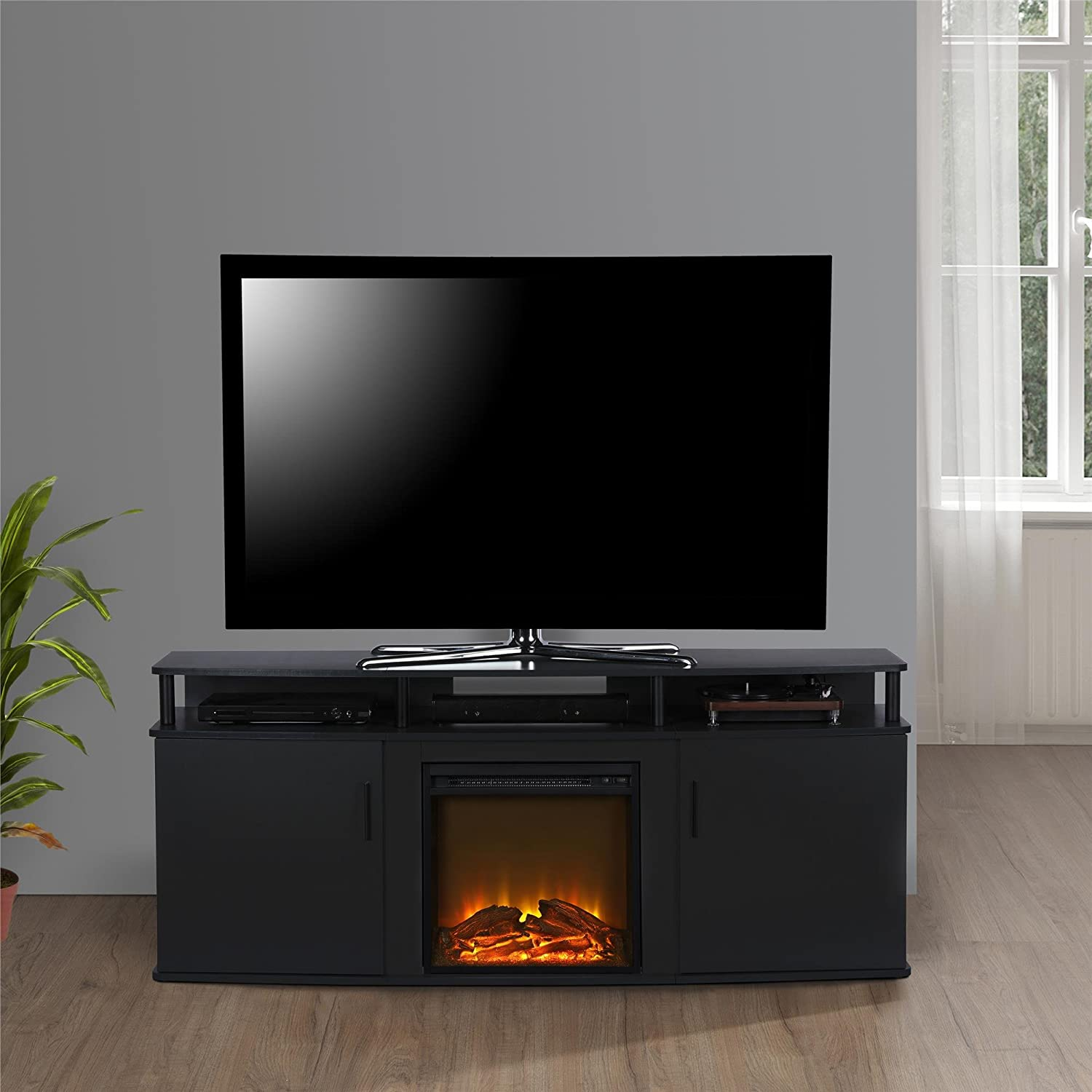 Ameriwood Home Carson Electric Fireplace TV Console for TV