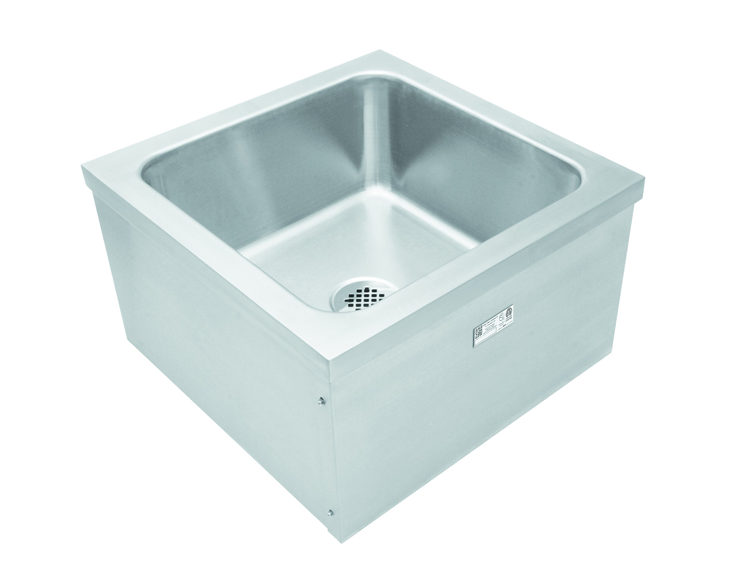 "Stainless Steel Floor Mount Mop Sink SE2424FM (24"" x 24"" x 14"")"