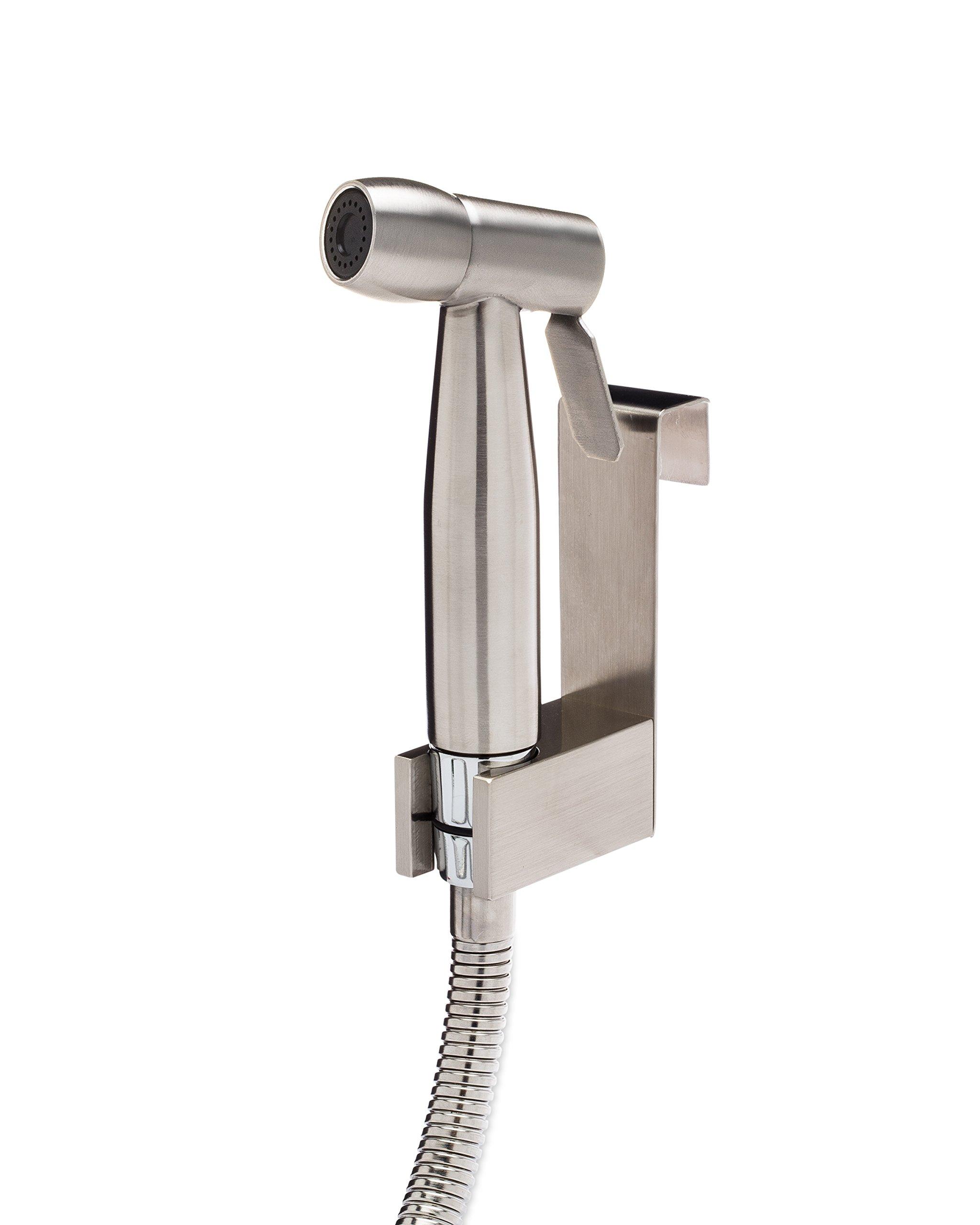 SmarterFresh Cloth Diaper Sprayer, Premium Stainless Steel Diaper Sprayer for Toilet - Diaper Washer Hand Held Bidet Sprayer for Cloth Diapers