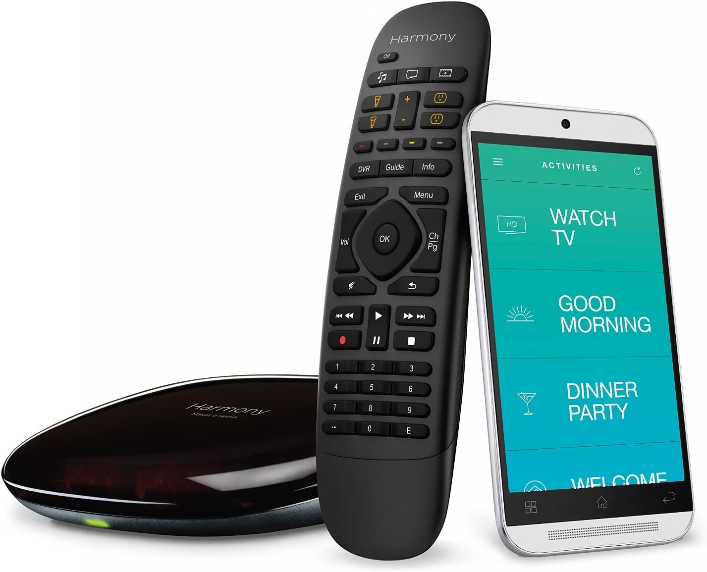 Logitech Harmony Home Control - 8 Devices (Black) (Renewed)