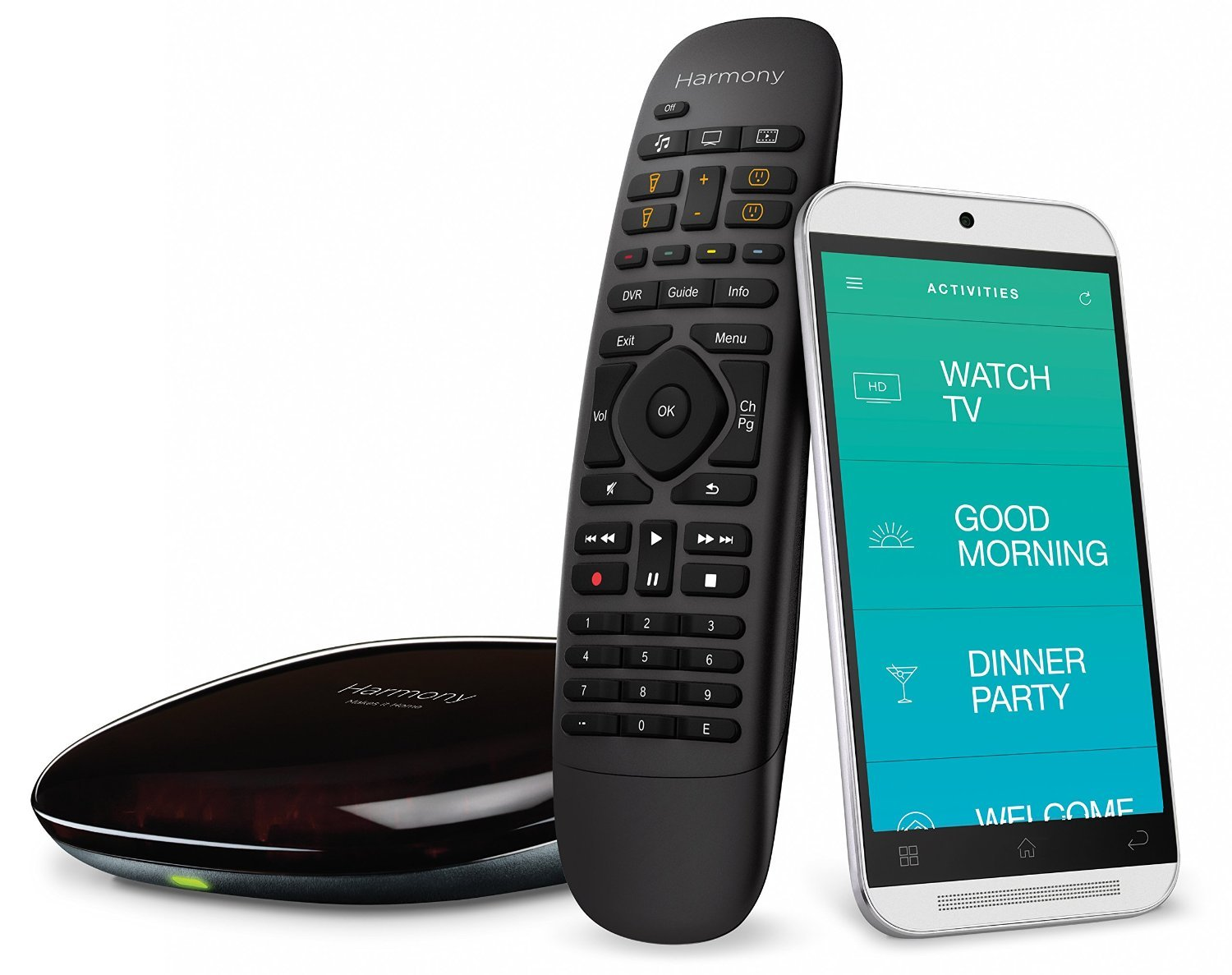 Logitech Harmony Home Control - 8 Devices - Black 915-000239 (Renewed)
