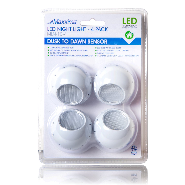 Delightful Maxxima MLN 10 LED Night Light With Dusk To Dawn Sensor (Pack Of 4)    Automatic Sensor Nightlights   Amazon.com Nice Ideas
