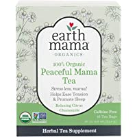 Earth Mama Organic Peaceful Mama Tea Bags for Pregnancy and Beyond, 16-Count
