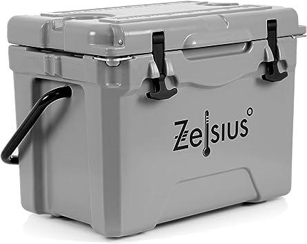 Zelsius Nevera Portátil Isotérmica I 25 litros I Termobox I Rígida I Calor y Frio I Coche I Camping I Vacaciones I Pesca I Playa