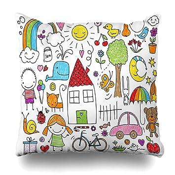 Amazon.com: DIYCow - Funda de almohada con diseño de ciervo ...