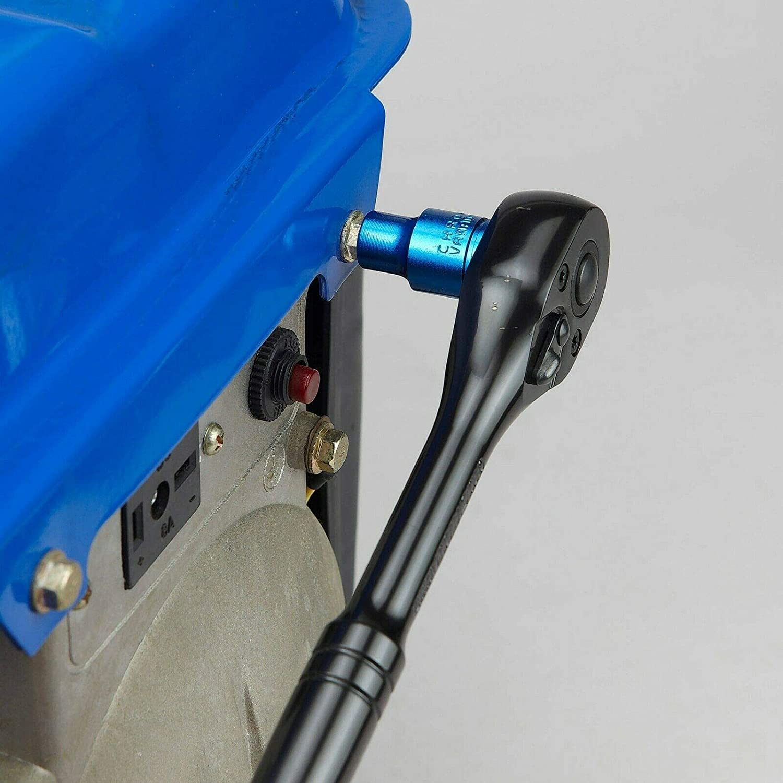 Hyper Tough 8-Piece 3//8 Drive Anodized Blue Metric Socket Set 12 Point