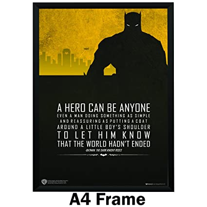 Image of: Clark Happy Giftmart Batman Quotes Typography Art Paper Poster Wb A4 Frame multicolour Amazonin Home Kitchen Amazonin Happy Giftmart Batman Quotes Typography Art Paper Poster Wb A4 Frame