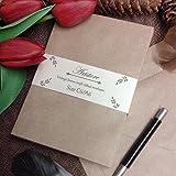 artstore Vintage Enveloppes Kraft côtelées Marron–100x C6/A6114x 162mm