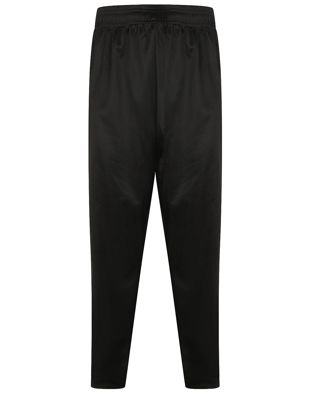 Mens Plain Silky Zipped Pockets Jogging Pants Joggers Gym Sport Yoga Bottoms