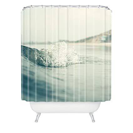 Amazon.com: Deny Designs Bree Madden Ocean Wave Shower Curtain, 69 ...