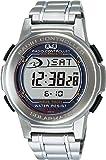 [シチズン キューアンドキュー]CITIZEN Q&Q 腕時計 SOLARMATE (ソーラーメイト) 電波ソーラー デジタル表示 クロノグラフ 10気圧防水 シルバー MHS5-200 メンズ