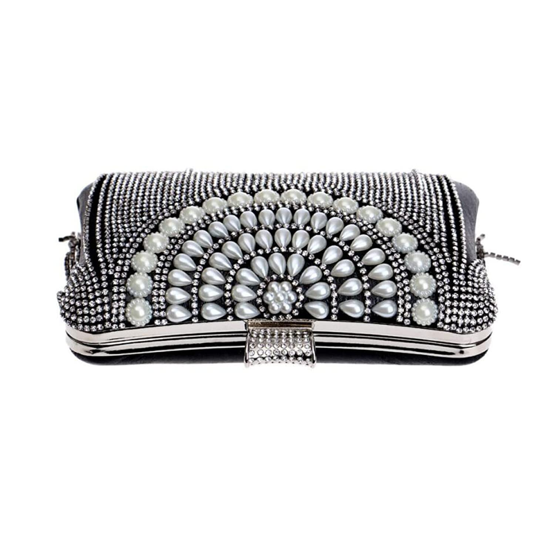 Europa Die Vereinigten Staaten Damen Quasten Kupplung Mode Mini Abendtasche Braut Mode Bankett Diamant Handtasche,Gold-OneSize CHENGXIAOXUAN