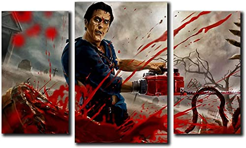 Did it again Ash vs. Evil Dead Design Modular Pictures Painting Wall Art Decor Home Decoration Canvas Printed. Gift