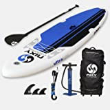 "NIXY All Around Inflatable Stand Up Paddle Board Package. Ultra Light 10'6"" Board Built with Advanced Fusion Laminated Dropstitch Technology and 2 YR Warranty"