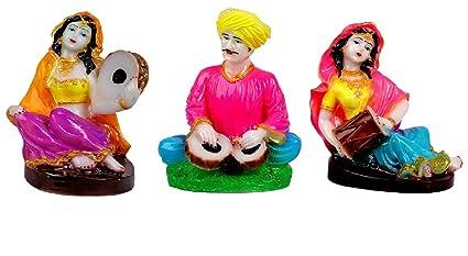 Buy Kavya Home Decor Marble Base Rajasthani Showpiece Figurines