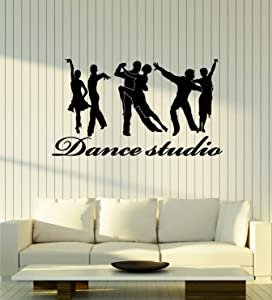 Vinyl Wall Decal Couple Passion Ballroom Dancing Dance Studio Stickers Mural Large Decor (g3292) Black