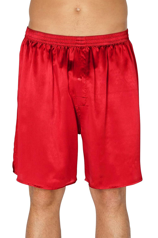 Intimo Mens Classic Silk Boxers Big /& Tall