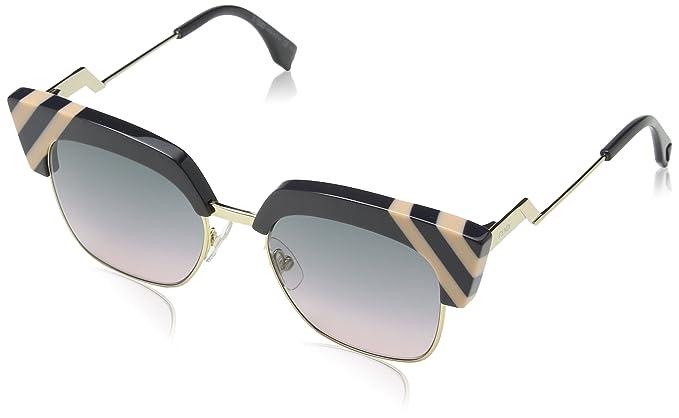 Signature Cube Clubmaster Sunglasses in White FF 0229/S VK6 55 Fendi yNxMp