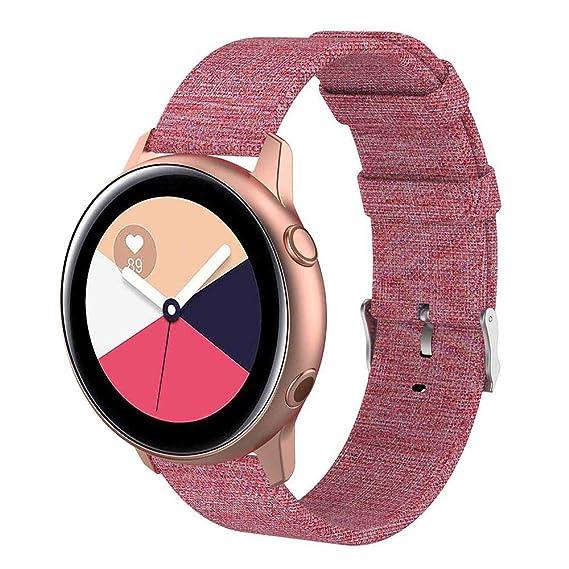 Womdee Kompatibel Mit Samsung Galaxy Watch Active 40mm Bands - 20mm Schnellspanner Ersatz Canvas Strap Für Galaxy Watch Activ